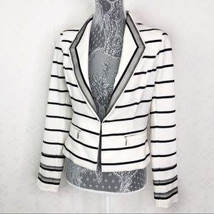 White House Black Market Striped Blazer